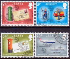 JERSEY 1974 SG #107-10 Compl.set Used UPU Centenary - Jersey