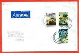 Australia 1990. Helicopter/ Memories Of Veterans.Envelope Passed The Mail.Airmail. - 1990-99 Elizabeth II