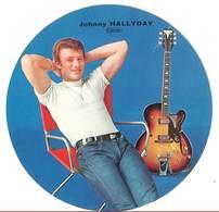 Pub Cartonnée Publistar : Johnny Hallyday ( Disques Philips ) - Photographs