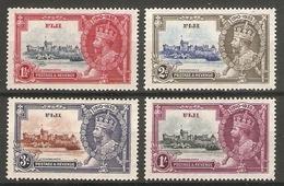 FIJI 1935 SILVER JUBILEE SET LIGHTLY MOUNTED MINT - Fiji (...-1970)