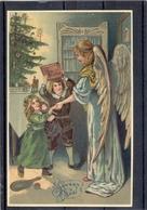 Relief - Gaufrée - Embossed - Prage - Ange Et Enfants - TBE - Weihnachten