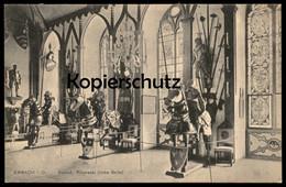ALTE POSTKARTE ERBACH SCHLOSS RITTERSAAL LINKE SEITE RITTER Mittelalter Castle Chevalier Knight Ansichtskarte Postcard - Erbach