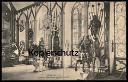 ALTE POSTKARTE ERBACH SCHLOSS RITTERSAAL RECHTE SEITE RITTER Mittelalter Castle Chevalier Knight Ansichtskarte Postcard - Erbach