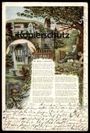 ALTE LITHO POSTKARTE KLOSTER HEISTERBACH SIEBENGEBIRGE BEI KÖNIGSWINTER DER MÖNCH Monk Religieux Ansichtskarte Postcard - Koenigswinter