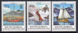 South Georgia 1995 Sailing Ships Set Of 3, MNH, SG 258/60 - Falkland Islands