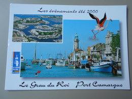 GARD LE GRAU DU ROI PORT CAMARGUE LES EVENEMENTS ETE 2000 PROGRAME AU VERSO - Le Grau-du-Roi