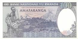 RWANDA P. 19 100 R 1989 UNC - Rwanda
