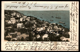 ALTE POSTKARTE HAMBURG BLANKENESE VOM SÜLLBERG 1904 Ansichtskarte Postcard Cpa - Blankenese