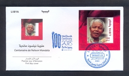 Libya 2018 -  FDC - Centenary Of Nelson Mandela  - Joint Issue - MNH** Excellent Quality - Tunisie (1956-...)