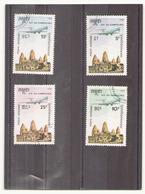 Kampuchea 1986,poste Aérienne N° 36 / 39 Oblitéré - Kampuchea