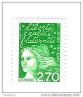 Luquet 2fr70 Vert YT 3091 Au Type II DE FEUILLE . Pas Courant , Voir Le Scan . Maury N° 3075 II : 7 € . - Variétés Et Curiosités