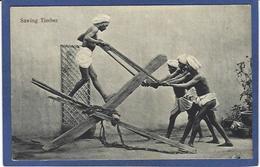 CPA Inde India Britannique Anglaise Non Circulé Métier Type Scieur De Long Bois - India