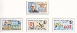 Congo Pierre De Coubertin - 4 Stamps MNH/**   (M9) - Olympische Spiele