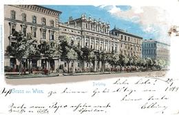 WIEN - PARKRING ; Graphische Verlagsanstal Binder Wien, 20:1:1899 - Ringstrasse