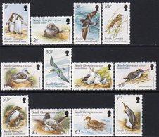 South Georgia 1999 Birds Definitives Set Of 12, MNH, SG 294/305 - Falkland Islands