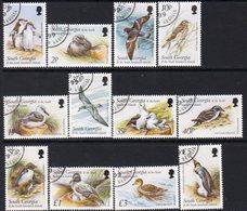 South Georgia 1999 Birds Definitives Set Of 12, Used, SG 294/305 - Falkland Islands