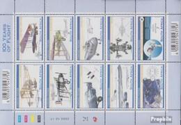 Afrique Du Sud 1532-1541 Feuille Miniature (complète.Edition.) Oblitéré 2003 1. Vol à Moteur Brothers Wright - Oblitérés