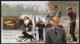 South Georgia 2000 Prince William's 18th Birthday MS, MNH, SG 319 - Falkland Islands