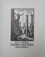 Ex-libris Illustré XXème - Italie - GIANNI MANTERO INGEGNERE - Ex-libris
