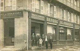 Cpa Carte Photo BANQUE DE BORDEAUX - Siège Social 8 Rue D' Orléans BORDEAUX - Banken