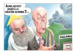 Illustrateur Bernard Veyri -La Naissance Du Monde- Politique - Caricature - Valéry Giscard D'Estaing - Autographe -Signé - Veyri, Bernard