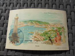 "Nice Grand Prix Paris 1900 Carte à Systeme Transparente Publicité "" Gaufrette LU "" - Altri"