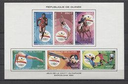 Guinea Olympics Soccer Tennis Swimming Horses 1992 COll. IMP.  MNH - Summer 1992: Barcelona