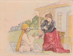 India  Fortune Teller Consultation Artist Court Card   Id412 - India