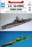 French Light Cruiser La Glorie & Submarine Surcouf # Card Model Scale 1/400 # JSC 74 - Paper Models / Lasercut