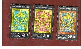 VATICANO (VATICAN) - UNIF. 641.643 - 1978 SEDE VACANTE: SERIE COMPLETA DI 3 -  MINT** - Vaticaanstad