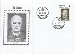 Great Britain Churchill Ww2 Nobel Engraved By Slania On Spain Tusello On Cover Only 25 Stamps  Issued - Sir Winston Churchill