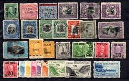 Panama/Canal Zone Belle Petite Collection 1904/1939. Bonnes Valeurs. B/TB. A Saisir! - Canal Zone