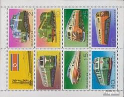Nord-Corée 1555-1561 C Feuille Miniature (complète.Edition.) Neuf Avec Gomme Originale 1976 Locomotives - Korea, North