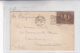 ENVELOPPE CIRCULEE CANADA TO USA. OBLITERE VANCOUVER 1918- BLEUP - 1911-1935 Règne De George V
