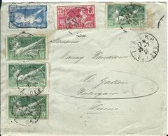 1924/28 France 2x Old Letter To Switzerland - 1921-1960: Période Moderne