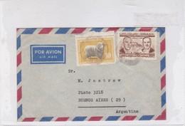 AIRMAIL CIRCULEE URUGUAY TO BUENOS AIRES CIRCA 1960s. STAMP AVEC BORD DU PLAQUE- BLEUP - Uruguay