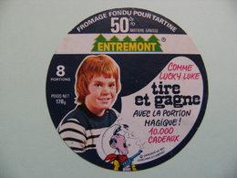 Etiquette Fromage Fondu - ENTREMONT - 8 Portions 74 R Pub Lucky Luke Dargaud - Hte-Savoie  A Voir ! - Cheese