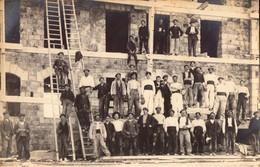 LUCHON CHANTIER CONSTRUCTION CARTE  PHOTO - Luchon