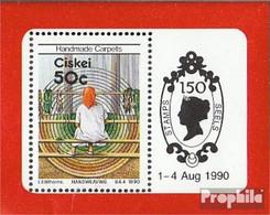 Südafrika - Ciskei Block5 (kompl.Ausg.) Postfrisch 1990 Teppichherstellung - Ciskei