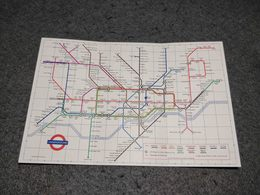 ANTIQUE ENGLAND UNDERGROUND METRO LONDON DIAGRAM OF LINES AND STATION INDEX PLAN 1971 - Europe