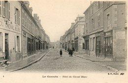 CPA - La GUERCHE (18) - Aspect De L'Hôtel Du Cheval Blanc Au Début Du Siècle - La Guerche Sur L'Aubois