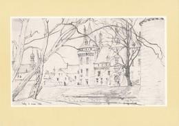 """Grande Carte Du Château De Sully Sur Loire ( Paul Chardin )  """" Les Amis Du Château De Sully Sur Loire ( Recto Verso ) - Sully Sur Loire"""