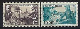 """FR YT 451 & 452 """" Pour Nos Soldats """"1940 Oblitéré - Gebraucht"""