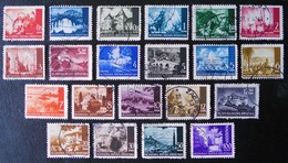 EMISSIONS 1941/43 - OBLITERES - YT 32/45A - SERIE COMPLETE - Croatie