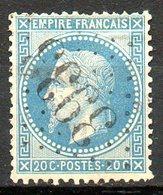 FRANCE - 1868 - Second Empire - Napoléon III Lauré - N° 29B - 20 C. Bleu - (Oblitération : Losange Gros Chiffres) - 1863-1870 Napoleon III With Laurels