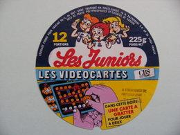 Etiquette Fromage Fondu - Les Juniors - 12 Portions Entremont 74 R Pub Les Vidéocartes - Hte-Savoie  A Voir ! - Cheese