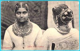 JAFFNA TAMIL LADIES - Sri Lanka ( Ceylon ) Vintage Postcard * Traditional Girls - Sri Lanka (Ceylon)