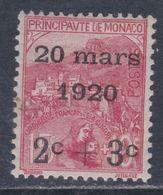 Monaco N° 34 X  Mariage De La Princesse Charlotte : 2 C. + 3 C. Sur 15 C. + 10 C.  Trace De Charnière Sinon TB - Monaco