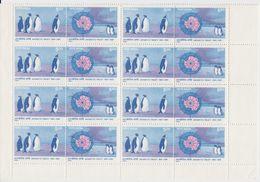 India 1991 Antarctic Treaty 2v (se-tenant) Bl Of 8  ** Mnh (40973) - Postzegels