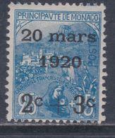 Monaco N° 35 X  Mariage De La Princesse Charlotte : 2 C. + 3 C. Sur 25 C. + 15 C.  Trace De Charnière Sinon TB - Monaco